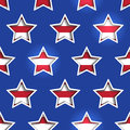 Stars and stripes shadowed background th july d cutout this file is vector eps uses transparency clipping masks Royalty Free Stock Photos