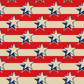 Stars stripes USA patriotic seamless background. Royalty Free Stock Photo