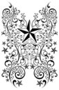 Stars tribal art illustration - tattoo - vector Royalty Free Stock Photos
