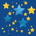 The stars vector illustration of Royalty Free Stock Photo