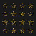 Stars vector set. Royalty Free Stock Photo