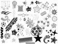 Stars Vectors Designs Royalty Free Stock Image