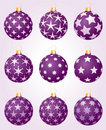 Stars violet balls