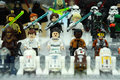 Stars wars jedi characters from Star Wars franchise movies Royalty Free Stock Photo