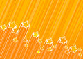 Stars on yellow background. Stock Photos