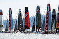 Start ac the of the america s cup world series of naples in italy Royalty Free Stock Photo