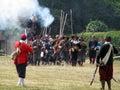 re-enactment British civil war Royalty Free Stock Photo