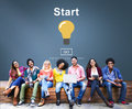 Start Begin Activation Begin First Build Forward Concept Royalty Free Stock Photo