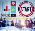 Start Begining Forward Direction Motivation Concept