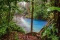 The start of blue river in Costa Rica