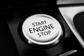 Start the engine button to and stop a motor here beast is released Stock Images