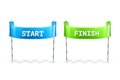 Start and Finish flags illustration Royalty Free Stock Photo
