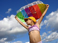 Start flying kite Royalty Free Stock Photo