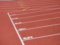 Start line of race track with clay Royalty Free Stock Images