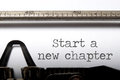 Start a new chapter Royalty Free Stock Photo