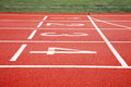 Start of running track Royalty Free Stock Photo