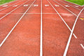 Start running track rubber Stock Image