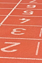 Start running track rubber standard red color Royalty Free Stock Images