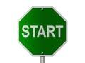 Start Sign Royalty Free Stock Photo