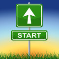 Start Sign Means Don't Wait And Action Royalty Free Stock Photo