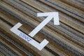 Start signage arrow Royalty Free Stock Photo