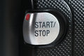 Start stop button recording closeup Royalty Free Stock Photos