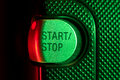 Start stop button recording closeup Stock Images