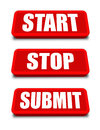 Start Stop Submit Button Royalty Free Stock Photo