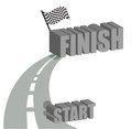 Start to finish road illustration design Royalty Free Stock Photo