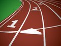 Start Track. Lines On a Red Running Track. Vector Royalty Free Stock Photo