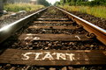 Start of the tracks Royalty Free Stock Photo