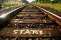 Start of the tracks