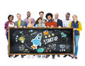 Start up business launch success education concept students concepts Stock Photography