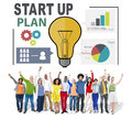Start Up Launch Business Ideas Plan Creativity Concept Royalty Free Stock Photo