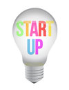 Start up lightbulb illustration design Stock Photos