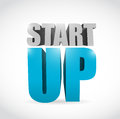 Start up text illustration design over a white background Royalty Free Stock Image