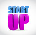 Start up text illustration design over a white background Royalty Free Stock Images
