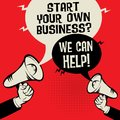 Start Your Own Business? We Can Help! Royalty Free Stock Photo