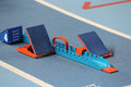 Starting Blocks in Track and Field Royalty Free Stock Photo