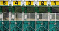 Starting gate closeup of used at york races Royalty Free Stock Photo