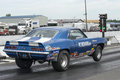 At the starting lights napierville dragway july rear side view of chevrolet camaro drag car during nhra national open event Stock Photos