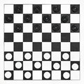 Starting position on draughts board x Stock Photos