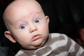 Startled Chubby Baby Royalty Free Stock Photo