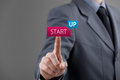 Startup business concept man start his investor accelerate start up project Royalty Free Stock Image