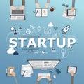 Startup diversity teamwork brainstorms for business