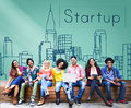 Startup New Business Vision Strategy Launch Concept Royalty Free Stock Photo