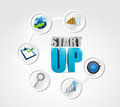 Startup step cycle illustration design over a white background Stock Photography