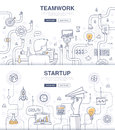 Startup and Teamwork Doodle Concepts