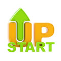Startup up arrow symbol isolated Stock Images