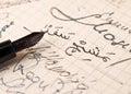 Stary hand-written z Arabskimi listami Fotografia Royalty Free